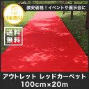 【レッドカーペット】【パンチカーペット】《送料無料》アウトレットニードルパンチ レッドカーペット【1本売り】__pc-re-red