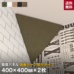 【壁面装飾パネル】両面テープ取付タイプ 吸音パネル サウンドスフィア NEXTseries PYRAMID 400×400mm 2個入*KH BN BE BK OW__cp-pm400-r