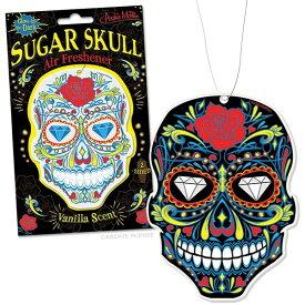 メール便送料無料!【Sugar Skull Deluxe Air Freshener】シュガースカル型エアフレッシュナー/カラベラ/メキシカンスカル/芳香剤/AirFreshener/カーフレッシュナー/ローライダー/蓄光/Glow In The Dark 【ポイント】05P03Dec16