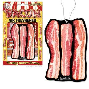 【メール便無料】ベーコン デラックス エアフレッシュナー 芳香剤 ベーコン 食べ物 車 面白デザイン パロディ 肉 リアル 燻製 吊り下げ Bacon Deluxe Air Freshener