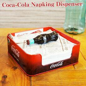 【あす楽】コカコーラ グッズ コカ・コーラ ナプキン ディスペンサー 紙ナプキン 収納 パーティー おしゃれ かっこいい かわいい アメリカン雑貨 コーラ コーク Coca-Cola Napking Dispenser