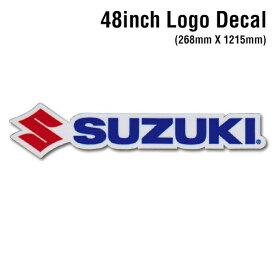 【D'COR 48 inch Suzuki Decal】ディコール 48インチ サイズ スズキ ダイカット ロゴ ステッカー 大型サイズ デカール MOTOCROSS モトクロス ATV 四輪バギー モータースポーツ スポーツバイク【正規品】【ポイント】05P03Dec16