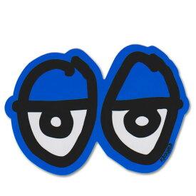 Krooked Eyes Sticker Neon Blue【クルキッド アイズ ステッカー】クルックド/ロゴの目/スケートボード/スケボー/ダイカット/シール/デカール/ネオンブルー【STDサイズ】 /【ポイント】05P03Dec16