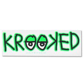 Krooked Logo Sticker Neon Green【クルキッド ロゴ ステッカー】クルックド/ロゴデザイン/スケートボード/スケボー/クリアタイプ/シール/デカール【ネオングリーン】 /【ポイント】05P03Dec16