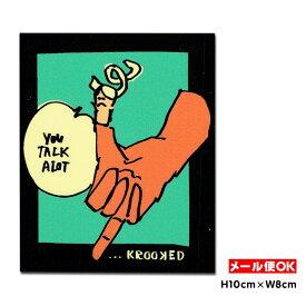 【メール便OK】クルキッド ステッカー Krooked Tawker Sticker スケートボード スケボー USA アメリカ ダイカット シール デカール 【ポイント】