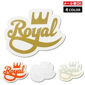 【メール便OK】Royal Trucks Crown Stript 4inch Sticker【全4色】【クリアタイプ】スケートボード スケボー トラック アメリカ USA ダイカット シール デカール ロイヤルトラック【ポイント】