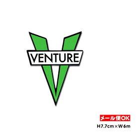 Venture V DieCut Sticker Small Size (Green) ベンチャートラック スケートボード スケボー USA アメリカ ステッカー シール デカール ロゴ【ポイント】
