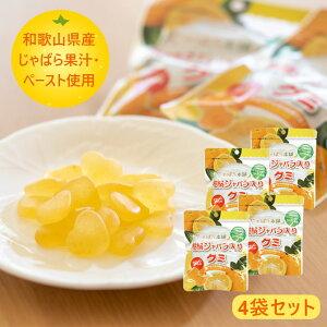 じゃばら本舗 柑橘じゃばら入りグミ 3.5g×20粒 4袋セット 和歌山県産じゃばら 果汁 ペースト グミ お菓子 グミキャンディー ナリルチン じゃばら ジャバラ メール便 送料無料【賞味期限2021.8