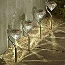ダイヤモンドタイプ ガーデンライト 4個セット LEDライト ソーラーライト 屋外 ガーデニング【ソーラーLED】◇SND-0045