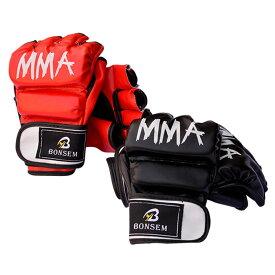 オープン フィンガー グローブ MMA キック ボクシング グラップリング トレーニング エクササイズ 用途に ◇BS-MM2