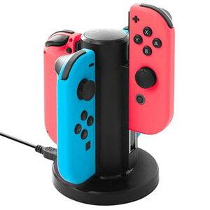 Nintendo Switch用 Joy-Con 充電スタンド 4台同時 スイッチ ジョイコン 充電器 充電指示ランプ USBケーブル付き 円型 【並行輸入品】 ◇HC-A3502【定形外郵便】