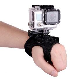アクションカメラ 用 ユニバーサル グローブ GoPro SJCAM xiaomi Yi マウント 対応 360度 回転 両手 指先 自由 ウェアラブル 【定形外郵便】◇SJ-PALM01