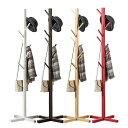 ポールハンガー 帽子掛け ハット ハンガーラック コートハンガー コートツリー 木製 衣類収納 洋服掛け ◇SMYMJ-C