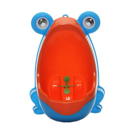 楽しく トイレトレーニング おまる 男の子 カエル かえるトイレ 男の子用 オマル 小便器 取外し可能 可愛い カエル型 練習 子供用 ◇CR-20
