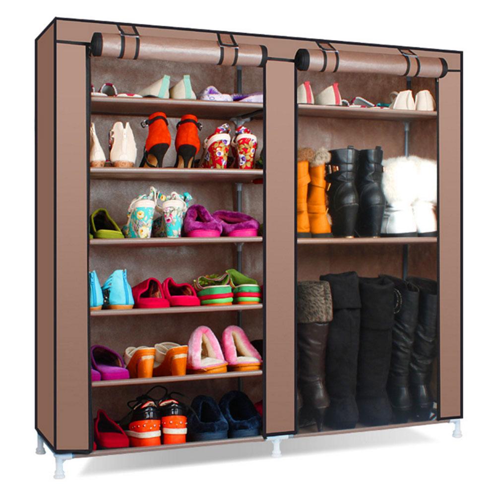 ロールカーテン シューズボックス ブーツ置き 6段×2列 靴 クローゼット 収納 目隠し 小物 衣類 ◇LH-26-B