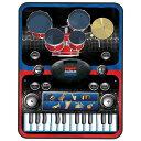 サウンド プレイマット ピアノ 5パッドドラム 8種類楽器音 おもちゃ 24鍵盤キーボード 録音 AUXIN 音楽再生 電池式 知…