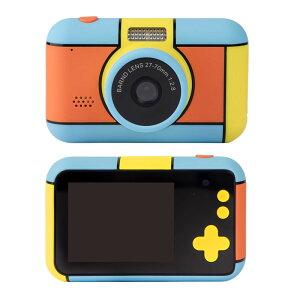 子供用 デジタルカメラ こどもカメラ キッズ カメラ 2800万画素 前後カメラ 自撮り 写真撮影 動画撮影 ビデオ録画 2.4インチ液晶 フラッシュ付き 玩具 ◇HEE-D7