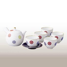 ★1028-AMN(色絵丸紋)茶器セット【香蘭社】送料無料北海道・沖縄は460円頂きます