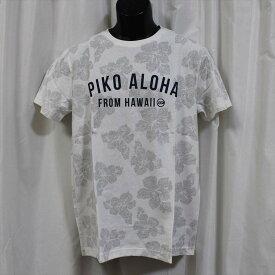 ピコ PIKO メンズ半袖Tシャツ ホワイト 新品 HAWAIIAN LONGBOARD WEAR 白