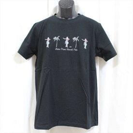 ピコ PIKO メンズ半袖Tシャツ ブラック 新品 黒 HAWAIIAN LONGBOARD WEAR