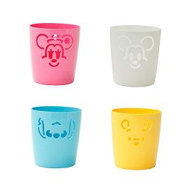 ディズニー収納BOX SS pita 日本製 やわらか素材 吸盤付き かわいい 収納 小物入れ ペン立て 片付け カラフル キッチン 洗濯 洗面 水回り 整理 ミッキー ミニー スティッチ プー プーさん ディズニー 景品 子供