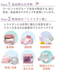 おなまえマグカップ送料無料安心の日本製食洗器OKプラスチック割れないコップ340ccトライタンレンジキッズ介護グラスアウトドア