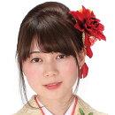 髪飾り和装2点セット花振袖袴成人式卒業式結婚式パーティ浴衣夏祭りビックダリア〈赤〉