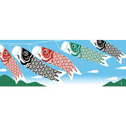 手ぬぐい【濱文様五月の風】てぬぐい鯉のぼりこいのぼり端午の節句横柄捺染日本製eco晒綿100%サイズ34×90cmこどもの日お祝い男の子かわいい五月春海外お土産メール便対応可