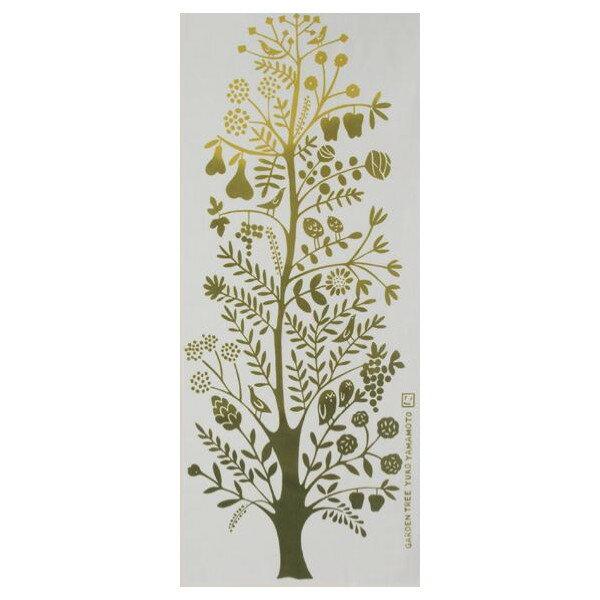 ◇メール便OK◇【にじゆら・手ぬぐい】 GARDEN TREE(カーキ)〜ガーデンツリー・北欧柄〜05P03Dec16