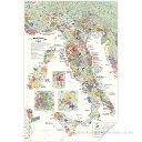 DE LONG イタリア ワインマップ[ Wine Map of Italy ] UH100MP ラッピング不可