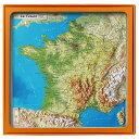 フランス3Dマップ(立体地図)[フランス全土] ワインポストカードUV201PC付 UR100MP
