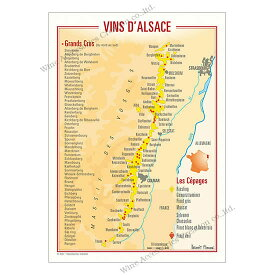 フランス製ワイン ポストカード[アルザス]10枚セット