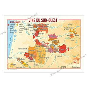 フランス製ワイン ポストカード[スッド・ウエスト]10枚セット