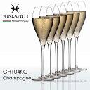 WINEX/HTT シャンパーニュグラス 6脚セット ギフト不可