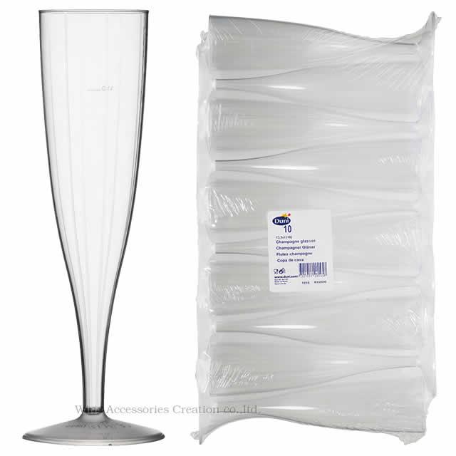 プラスチック製シャンパングラス 10個入り GJ051PT ラッピング不可商品