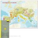 フランス製ワインマップ ヨーロッパ全土 ラッピング不可