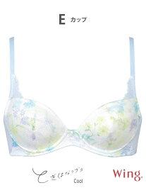 【SALE/30%OFF】(W)ウイング 3/4カップブラ 【ときはなつブラ Cool】 Wing ウイング インナー/ナイトウェア ブラジャー ブルー ブラウン【RBA_E】[Rakuten Fashion]