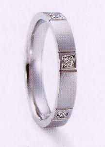 ★NINA RICCI【ニナリッチ】(45)6RB908-3マリッジリング・結婚指輪・ペアリング用(1本)