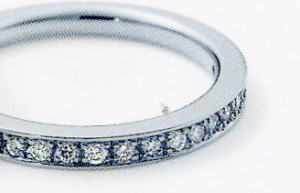 ★NINA RICCI【ニナリッチ】(53)6RB0007-3ハーフエタニティリング・マリッジリング・結婚指輪・ペアリング用(1本)