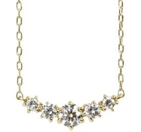 95-0990【受注生産】 me.luxe K18YG(イエローゴールド)0.2ctラインダイヤモンド ネックレス(ペンダント)