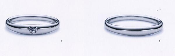 ★お買い得特別価格!!★RomanticBlueロマンティックブルー4A1005ダイヤ(1)&4B1005(2)−2本セットマリッジリング・結婚指輪・ペアリング