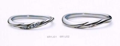 ★NINA RICCI【ニナリッチ】(5)6R1J01ダイヤ&(6)6R1J02 2本セットマリッジリング・結婚指輪・ペアリング