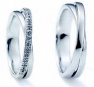 ★NINA RICCI【ニナリッチ】(41)6RB0002-3 ダイヤ&(42)6RA0002-3 2本セットマリッジリング・結婚指輪・ペアリング