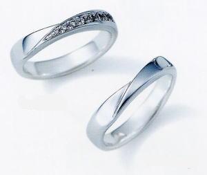 ★NINA RICCI【ニナリッチ】(37)6RB910-3ダイヤ&(38)6RA915-3 2本セットマリッジリング・結婚指輪・ペアリング