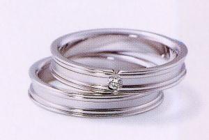 ★NINA RICCI【ニナリッチ】(43)6RB902-3ダイヤ&(44)6RA906-3 2本セットマリッジリング・結婚指輪・ペアリング