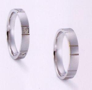 ★NINA RICCI【ニナリッチ】(45)6RB908-3ダイヤ&(46)6RA913-3 2本セットマリッジリング・結婚指輪・ペアリング