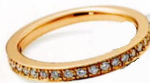 ★NINA RICCI【ニナリッチ】(52)6RG0001-3ハーフエタニティリング・マリッジリング・結婚指輪・ペアリング用(1本)
