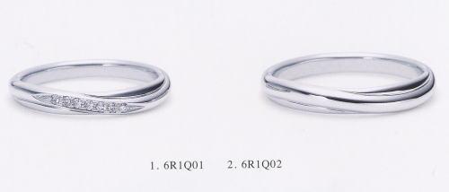★NINA RICCI【ニナリッチ】(1)6R1Q01ダイヤ&(2)6R1Q02-2本セットマリッジリング・結婚指輪・ペアリング