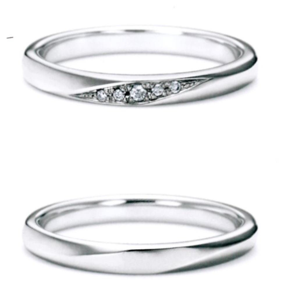 ★NINA RICCI【ニナリッチ】【新製品】6r1b04ダイヤ & 6r1b03 2本セットマリッジリング・結婚指輪・ペアリング