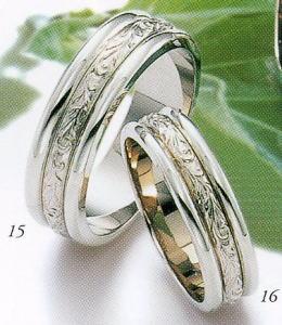 ★Tresoro【トレソロ】(15)11F72&(16)11D72(2本セット)マリッジリング・結婚指輪・ペアリング